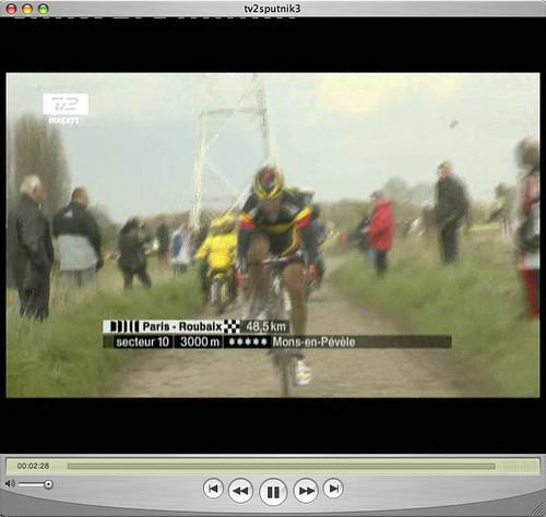 Watching Paris-Roubaix via the web
