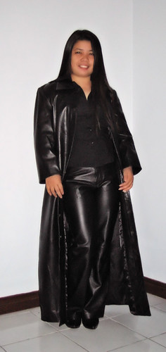 Long Leather Coat & Pants