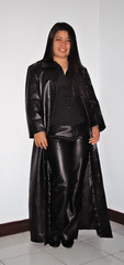 Long Leather Coat & Pants (johnerly03) Tags: black leather fashion asian long pants coat filipina topv3333 erly