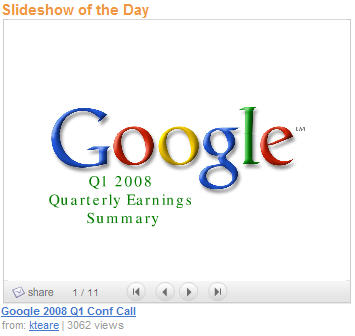 google-summary-slideshare