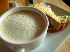 tomato cappuccino, mini grilled cheese sandwich