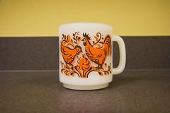Vintage Glasbake Mug #27 (studiosmith) Tags: vintage mug 27 roosters allrightsreserved midcenturymodern midcentury mcm glasbake milkglass studiosmith studiosmith20062010 studiosmith studiosmith2013