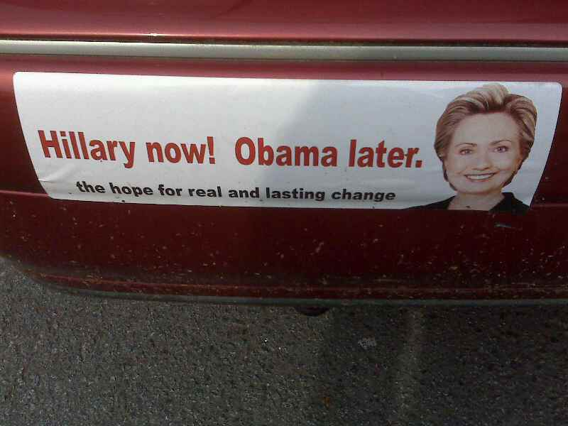 Hillary now, Obama later