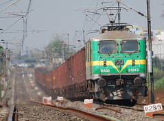 Gettin' it done (2) (Saqib Karori - TucsonRailfan) Tags: india rail goods karori nagpur trackside indianrailways railfanning saqib irfca 31043 wag9