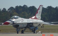 F-16 (blazer8696) Tags: show 2004 nc force sony air wayne johnson northcarolina cybershot airshow f16 seymour thunderbird base gsb sandysprings goldsboro dscf707 seymourjohnson dsc02480 t2004