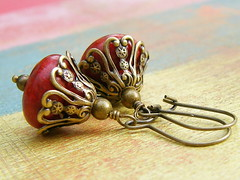 Ornate Filigree Bell earrings