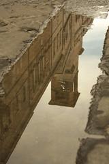 Vicolo, Perugia. (eastwood_clint) Tags: strada street perugia umbria italia italy water acqua reflection riflesso pozzanghera mud tower torre campanile