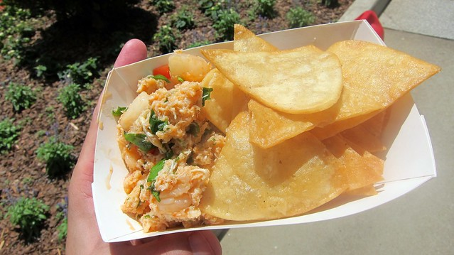crab and bay scallop ceviche from the lime truck