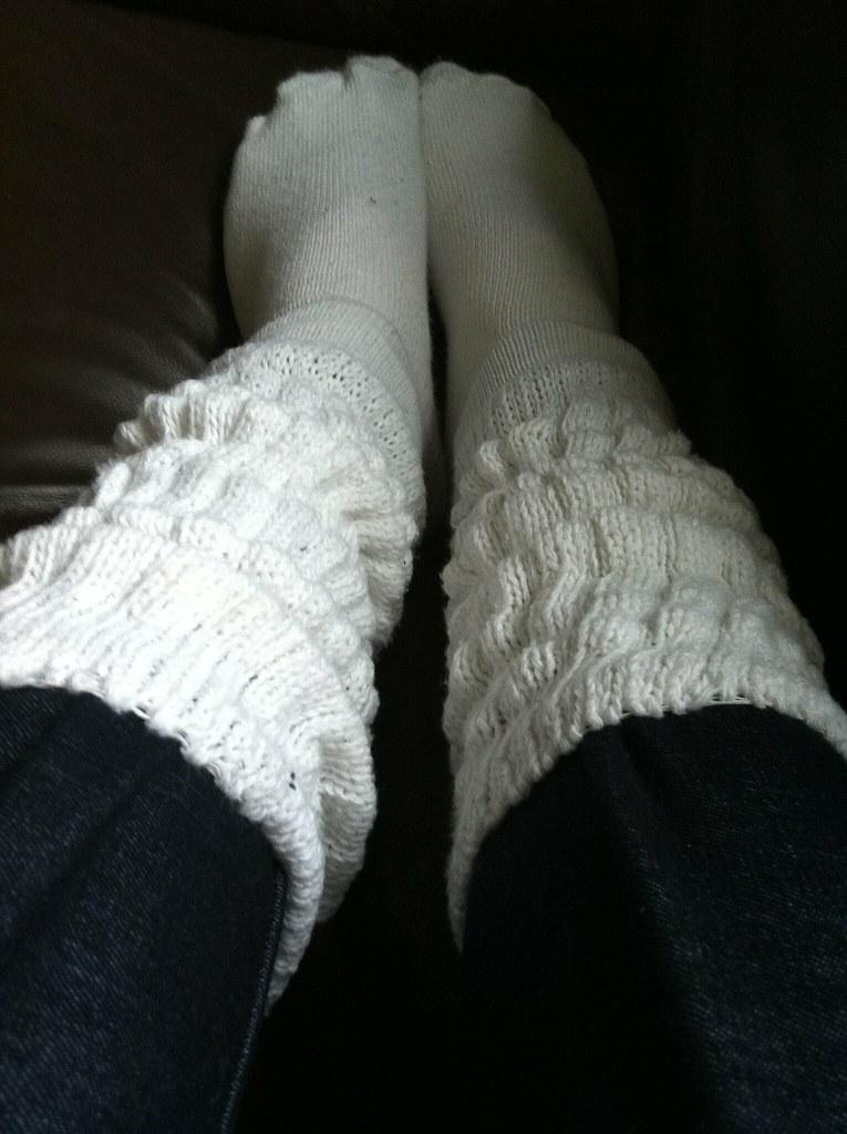 White slouch socks