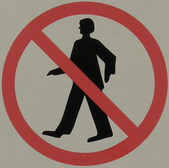 don't walk like an Egyptian (Foot Slogger) Tags: red geometric sign almostsquaredcircle