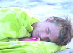 bad boy resting (highwirebeth) Tags: beach towels badboy