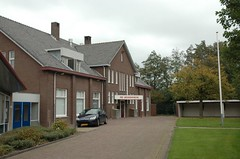 "our youth/elderly hall, the ""Jeugdhoeve"" or ""Youth Farmhouse"" (trekamerikalover) Tags: hometown dutchhouses autumnfolliage"