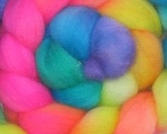Handspun yarn or fiber... Your choice!  Candy Sprinkles on BFL - 4 oz (WW)