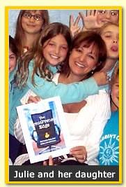 Julie Lenzer Kirk, author The ParentPreneur Edge, and her daughter