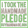 handmade pledge button
