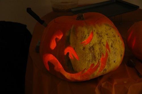 two-faced pumpkin