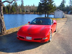 Nice day for a drive (redvette) Tags: corvette rivervalleyvettes redvette tomhiltz