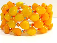 Orange Coil Bracelet