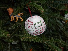 Ornament from Jen on the tree