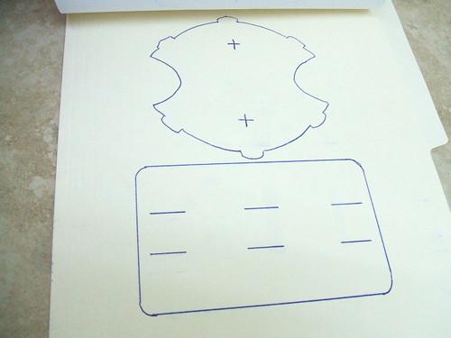 Diseño calcado en una carpeta