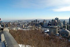 Skyline with slope of Mont Royal