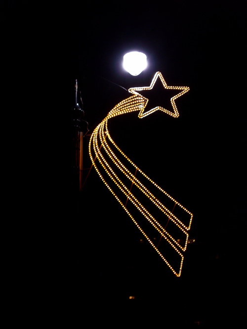 lamppost star Christmas decoration, Manhattan