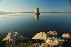 OldMill_0886 (trimmer741) Tags: italy reflection water lagoon tuscany orbetello oldwindmill