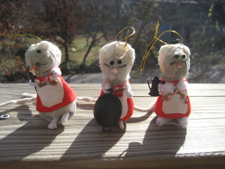 Vintage Mice Ornaments