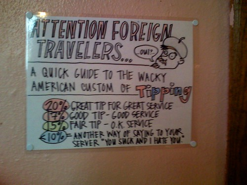 Attention foreign travelers...a quick guide to the wacky American custom of tipping