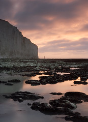 Birling Gap - Dawn (lowbattery) Tags: uk cliff lighthouse sussex coast chalk gap eastbourne southeast beachyhead birling