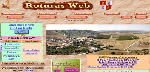 Captura de la web de Roturas