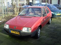 1991 Skoda Favorit 135 (Davydutchy) Tags: amsterdam classiccar garage oldtimer soc veteran skoda diamant bertone skodaclub
