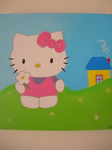 Hello Kitty no campo