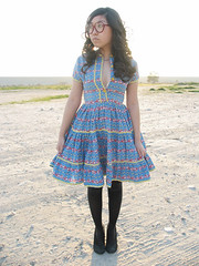 vintage dancing dutch people dress! (loveloveloveus) Tags: blue people dutch yellow vintage 60s ebay dress dancing bright buttons 1950s clogs 50s 1960s ric lovelovelove rac ruffle
