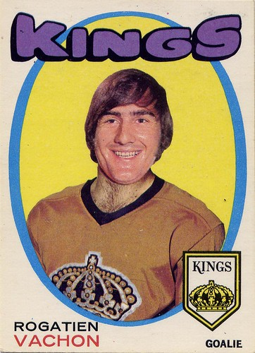 Rogatien Vachon, Rogie Vachon, Los Angeles Kings, 71-72 O-Pee-Chee, hockey, hockey cards