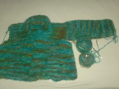 Garter Stitch Jacket - Sleeve 1