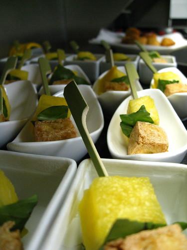 crispy tofu, basil, pineapple