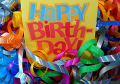 Happy Birthday To You! (j.towbin ©) Tags: birthday macro ribbons colorful vivid curls card gift happybirthday giftwrapping birthdaybling allrightsreserved© macromondays allrightsreserved© curledribbons