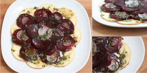 Carpaccio de pommes & betteraves