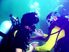 Underwater Navigation (aZ-Saudi) Tags: blue sea fish water coach underwater deep diving arabic saudi arabia diver ok navigation breathing ksa alhasa arabin ِarabs