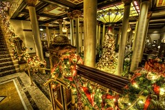 Christmas in the Summer (Stuck in Customs) Tags: pictures lighting christmas xmas light red panorama tree green art texture colors lines modern composition work austin reflections painting photography lights hotel intense nikon perfect holidays colorful exposure downtown pretty shoot artist mood texas photographer shot angle photos unique background tx details perspective atmosphere images best edge processing pro romantic dreamy hotels framing capture tones magical hdr masterpiece treatment bunting driskill mostviewed highquality stuckincustoms treyratcliff