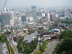 Seoul from the Cable Car
