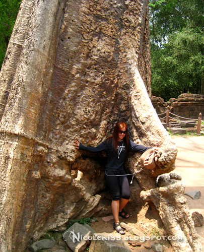 nicole pose at ta prohm
