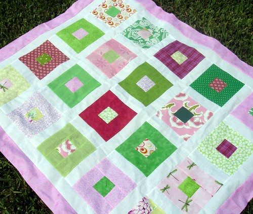 girl quilt with new border
