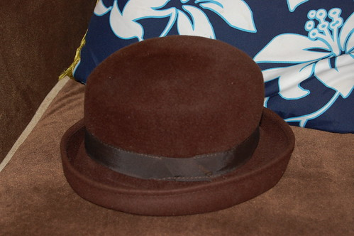 brown j crew hat