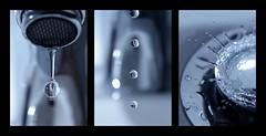 (metallissimus) Tags: blue macro water closeup drops wasser sink drop series blau sequence makro serie nahaufnahme wassertropfen tropfen waschbecken bilderserie
