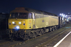 47749 and 47727 3S11 Penzance 04/11/08. (Dan's Railway Gallery) Tags: night cornwall penzance colas class47 rhtt
