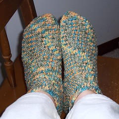 Denise's Toe=Up Socks lesson one - Socknitters Home Page