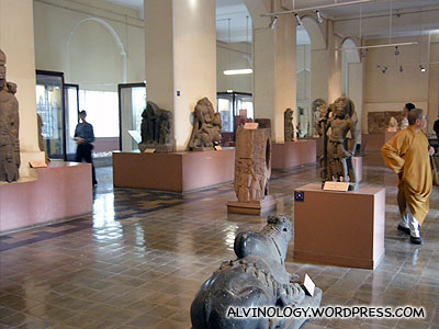 The first floor sculpture gallery