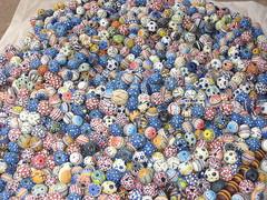 Hand Made and Hand Painted Glass Beads (Peter Schnurman) Tags: africa beads handmade ghana handpainted volta glassbeads agomanya